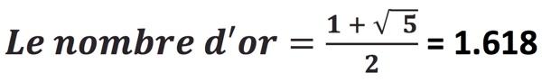 formule du nombre d'or
